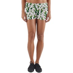 Cactus Pattern Yoga Shorts