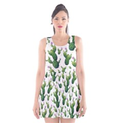 Cactus Pattern Scoop Neck Skater Dress