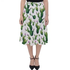 Cactus Pattern Folding Skater Skirt