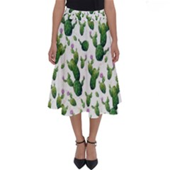 Cactus Pattern Perfect Length Midi Skirt