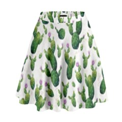 Cactus Pattern High Waist Skirt