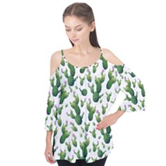 Cactus Pattern Flutter Tees