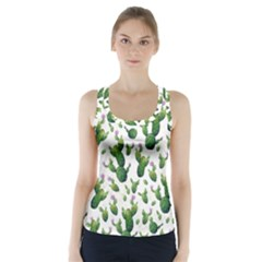 Cactus Pattern Racer Back Sports Top