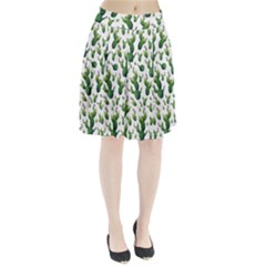 Cactus Pattern Pleated Skirt