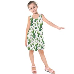 Cactus Pattern Kids  Sleeveless Dress