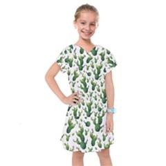 Cactus Pattern Kids  Drop Waist Dress