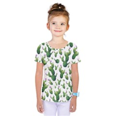Cactus Pattern Kids  One Piece Tee