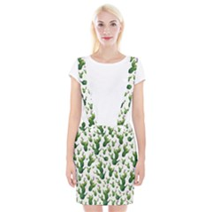 Cactus Pattern Braces Suspender Skirt