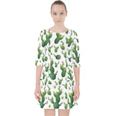 Cactus Pattern Pocket Dress