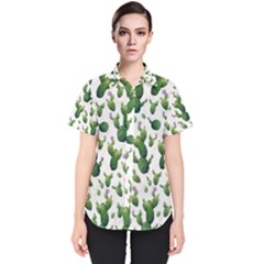 Cactus Pattern Women s Short Sleeve Shirt