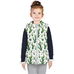 Cactus Pattern Kid s Hooded Puffer Vest