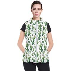 Cactus Pattern Women s Puffer Vest