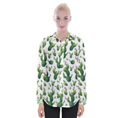 Cactus Pattern Womens Long Sleeve Shirt