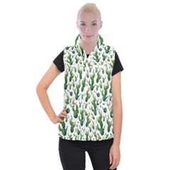 Cactus Pattern Women s Button Up Vest