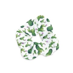 Cactus Pattern Velvet Scrunchie