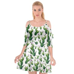 Cactus Pattern Cutout Spaghetti Strap Chiffon Dress