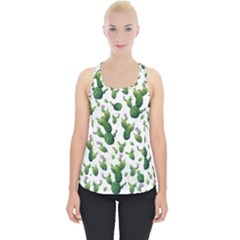 Cactus Pattern Piece Up Tank Top