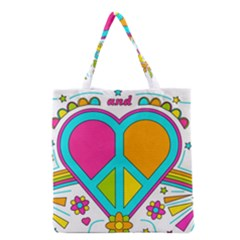 Love Peace Feelings Nature Grocery Tote Bag by Sapixe
