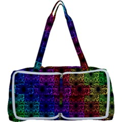 Rainbow Grid Form Abstract Multi Function Bag