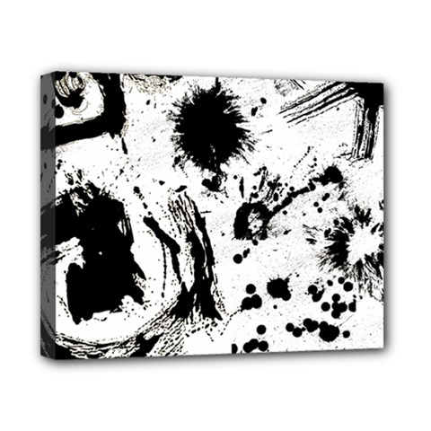 Pattern Color Painting Dab Black Canvas 10  X 8  by Sapixe