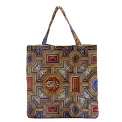 Church Ceiling Box Ceiling Painted Grocery Tote Bag by Sapixe