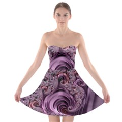 Abstract Art Fractal Art Fractal Strapless Bra Top Dress