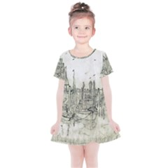 Pencil Drawing Drawing Port Kids  Simple Cotton Dress