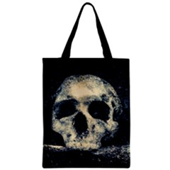 Skull Zipper Classic Tote Bag by FunnyCow