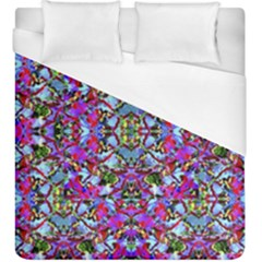 Multicolored Floral Collage Pattern 7200 Duvet Cover (king Size) by dflcprints