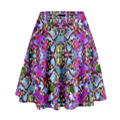 Multicolored Floral Collage Pattern 7200 High Waist Skirt by dflcprints