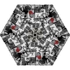 Frida Kahlo Pattern Mini Folding Umbrellas