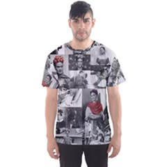 Frida Kahlo Pattern Men s Sports Mesh Tee