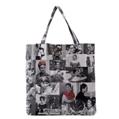 Frida Kahlo Pattern Grocery Tote Bag