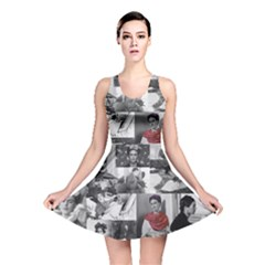 Frida Kahlo Pattern Reversible Skater Dress