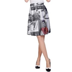 Frida Kahlo Pattern A Line Skirt