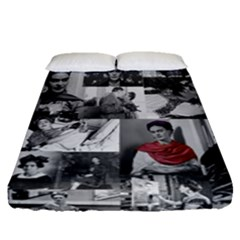 Frida Kahlo Pattern Fitted Sheet (queen Size)