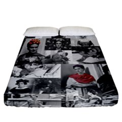 Frida Kahlo Pattern Fitted Sheet (california King Size)