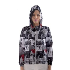 Frida Kahlo Pattern Hooded Windbreaker (women)