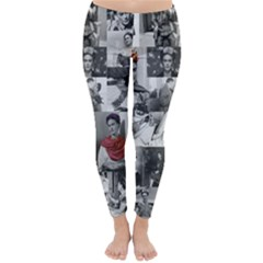 Frida Kahlo Pattern Classic Winter Leggings