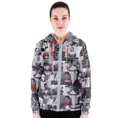 Frida Kahlo Pattern Women s Zipper Hoodie