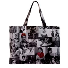 Frida Kahlo Pattern Zipper Mini Tote Bag