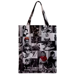Frida Kahlo Pattern Zipper Classic Tote Bag