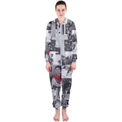 Frida Kahlo Pattern Hooded Jumpsuit (ladies)