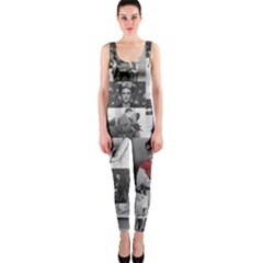 Frida Kahlo Pattern One Piece Catsuit