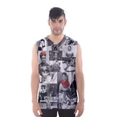 Frida Kahlo Pattern Men s Basketball Tank Top