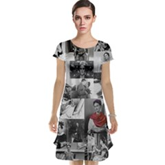 Frida Kahlo Pattern Cap Sleeve Nightdress