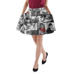 Frida Kahlo Pattern A Line Pocket Skirt