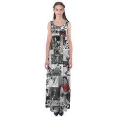 Frida Kahlo Pattern Empire Waist Maxi Dress