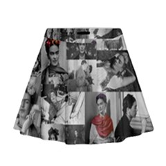 Frida Kahlo Pattern Mini Flare Skirt