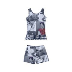 Frida Kahlo Pattern Kid s Boyleg Swimsuit